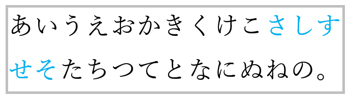 校正 長体