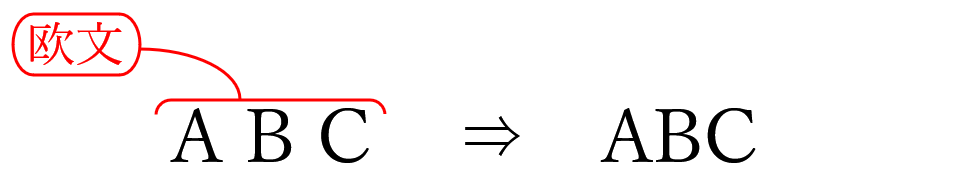 校正記号の欧文