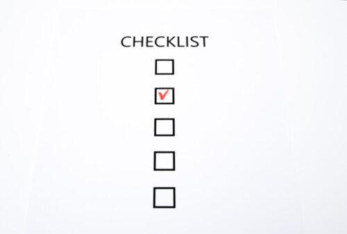 校正のチェックリスト
