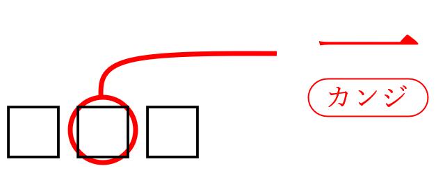 校正記号の漢数字