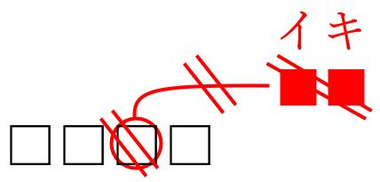 校正記号のイキ