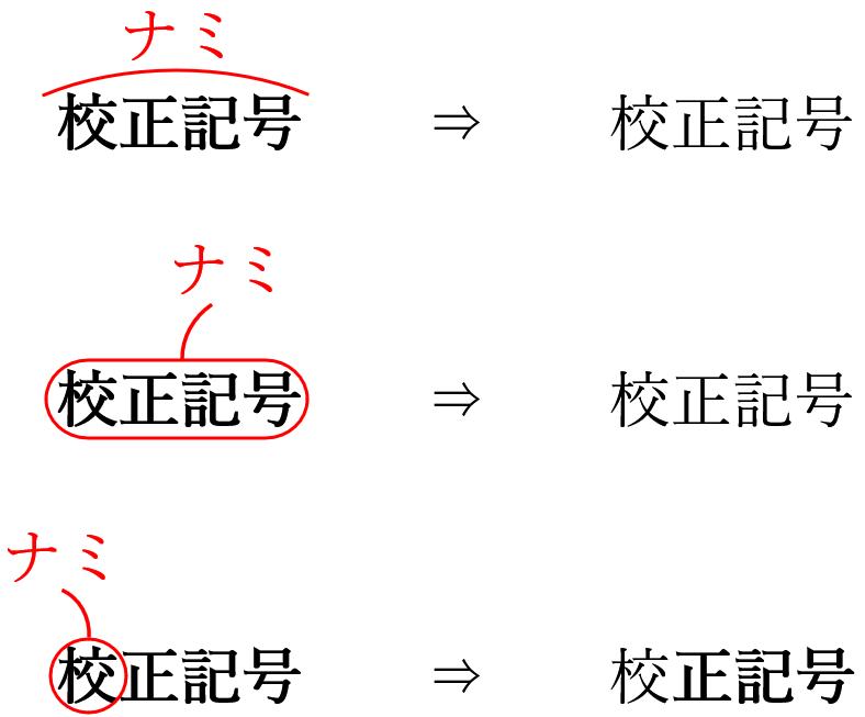 校正記号の太字