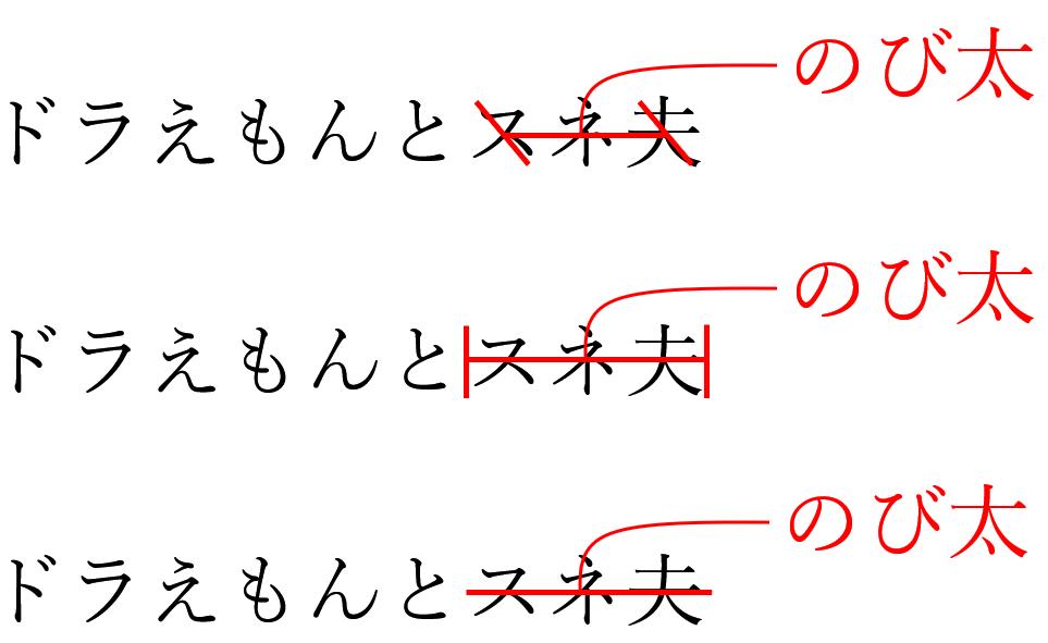 文字の訂正と修正